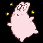 Кролик Супчик розовый: cтикер №22