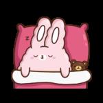 Кролик Супчик розовый: cтикер №24