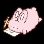 Кролик Супчик розовый: cтикер №26