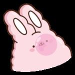 Кролик Супчик розовый: cтикер №27