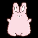 Кролик Супчик розовый: cтикер №29