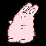 Кролик Супчик розовый: cтикер №31