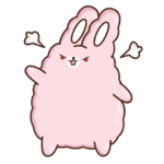 Кролик Супчик розовый: cтикер №34