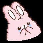 Кролик Супчик розовый: cтикер №36