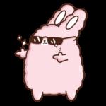Кролик Супчик розовый: cтикер №37