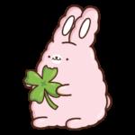 Кролик Супчик розовый: cтикер №41