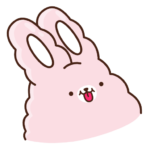 Кролик Супчик розовый: cтикер №42