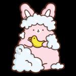 Кролик Супчик розовый: cтикер №45