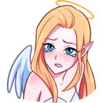 Ангелица: cтикер №8