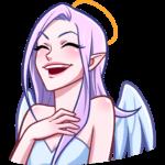 Ангелица Вайолет: cтикер №24