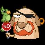 Пират Дигги: cтикер №6
