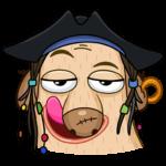 Пират Дигги: cтикер №8