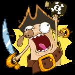 Пират Дигги: cтикер №9