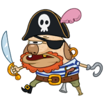 Пират Дигги: cтикер №12