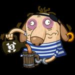 Пират Дигги: cтикер №15