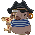 Пират Дигги: cтикер №24