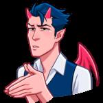 Дьявол: cтикер №17