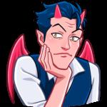 Дьявол: cтикер №23