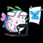 Бабочка Лусия: cтикер №18